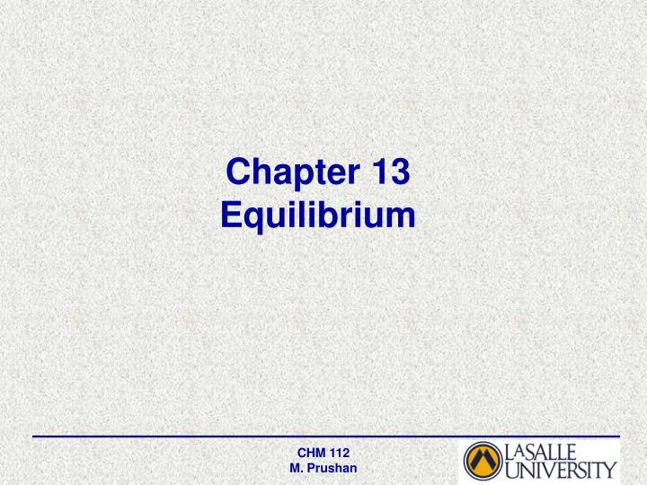 chapter 13 equilibrium n.