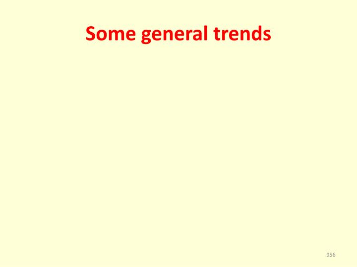 Some general trends