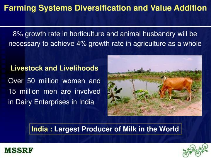 Farming Systems Diversification and Value Addition