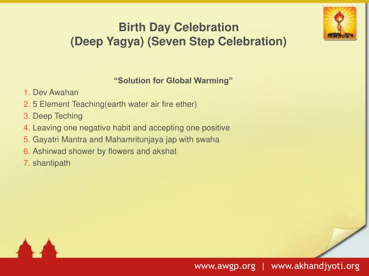 Birth Day Celebration