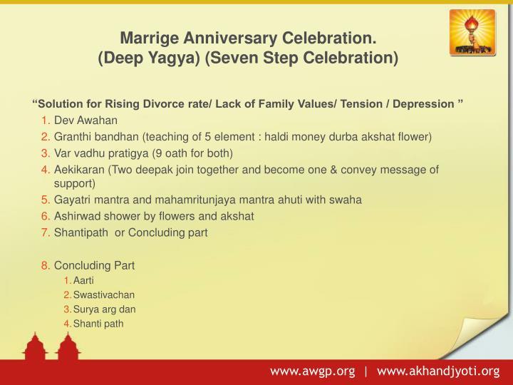 Marrige Anniversary Celebration.