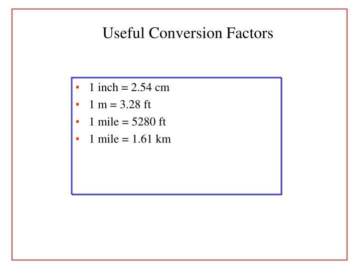 Useful Conversion Factors