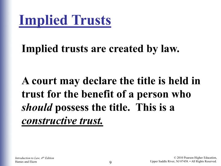 Implied Trusts