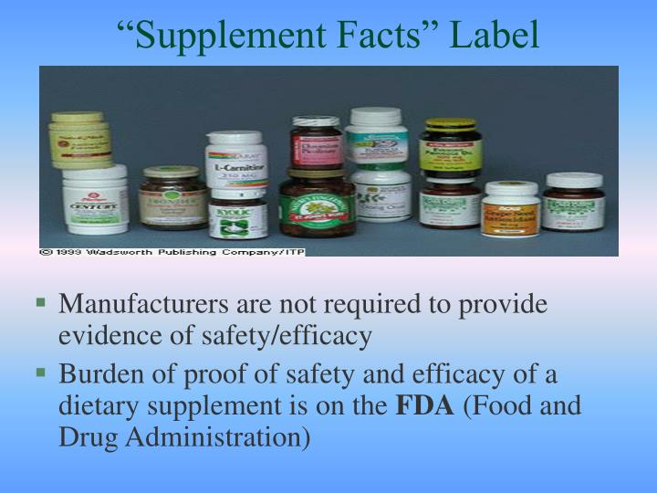 """Supplement Facts"" Label"