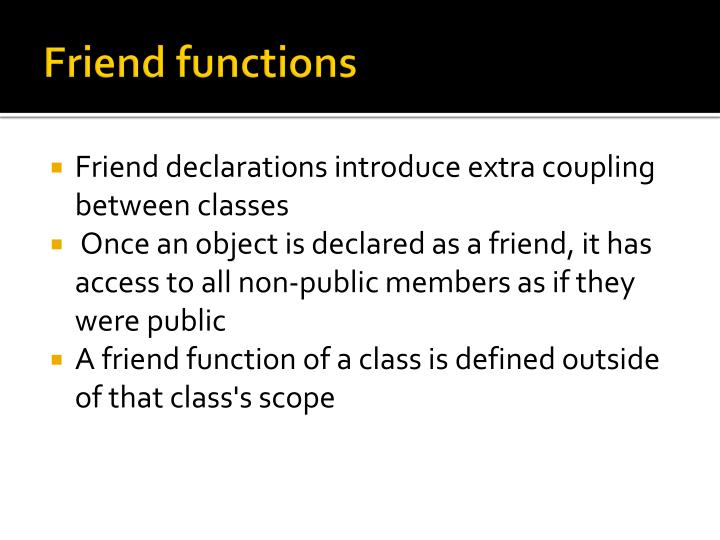 Friend functions