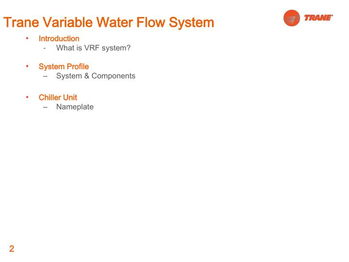 Trane variable water flow system1