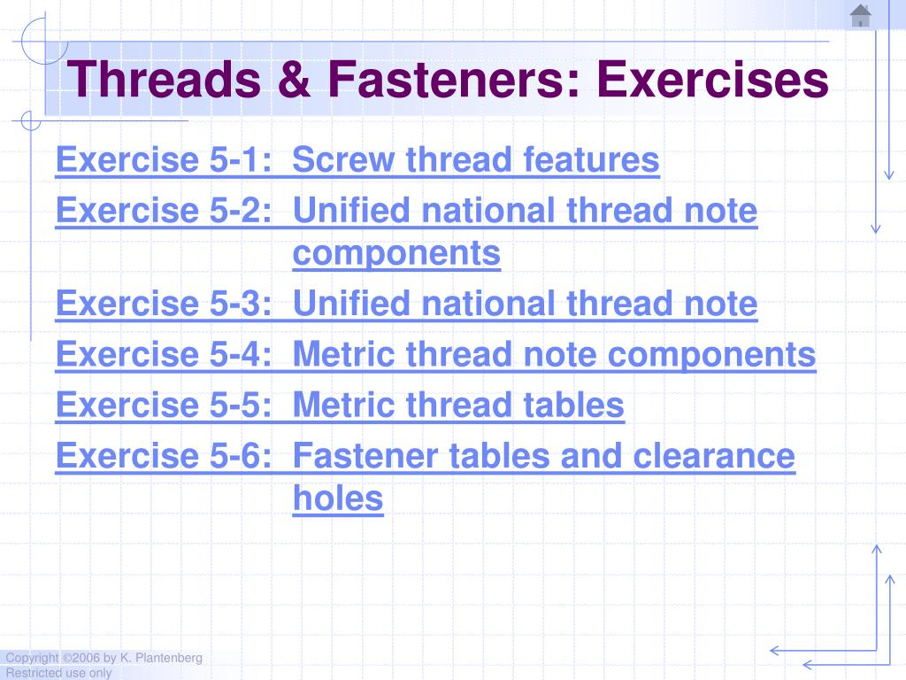 PPT - Chapter 5 Threads and Fasteners PowerPoint Presentation - ID