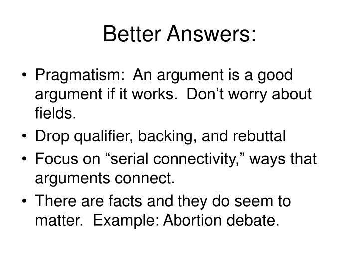 Better Answers: