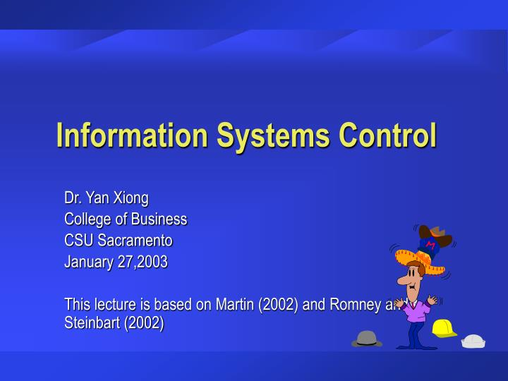 information systems control n.