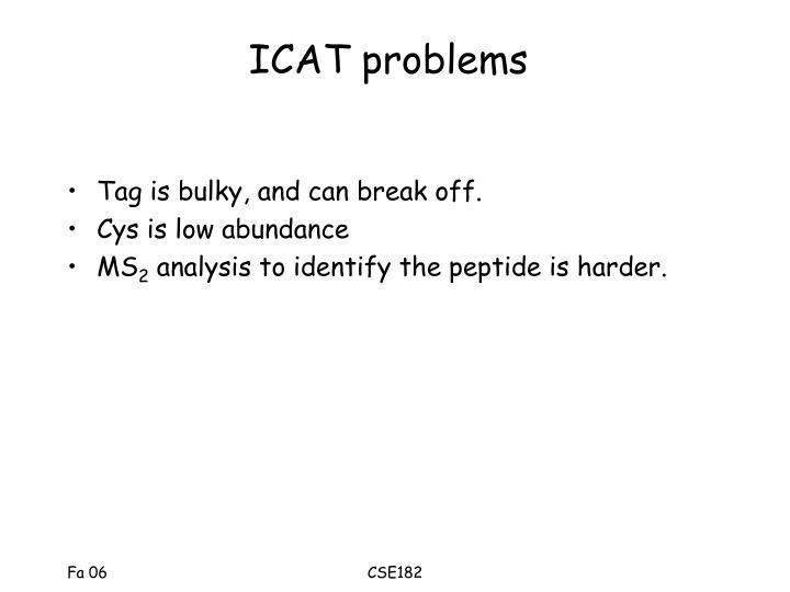 ICAT problems