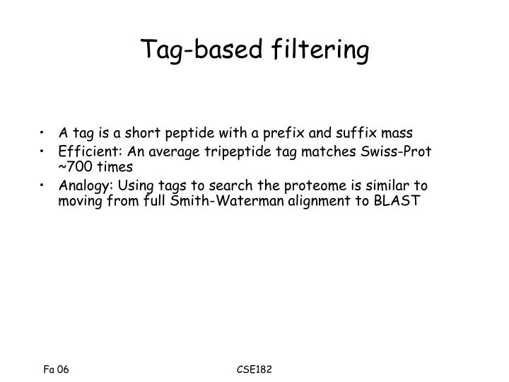 Tag-based filtering