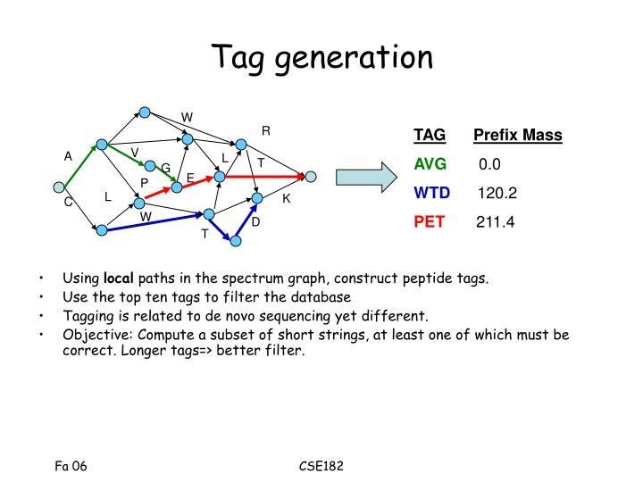 Tag generation