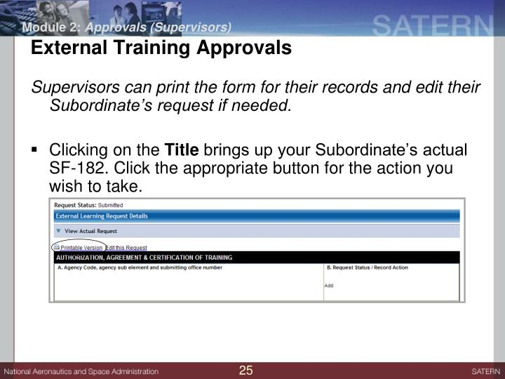 Ppt External Training Requests For Users And Supervisors November
