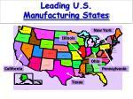 leading u s manufacturing states