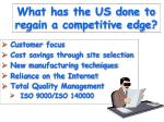 what has the us done to regain a competitive edge