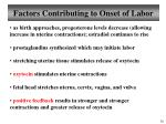 factors contributing to onset of labor