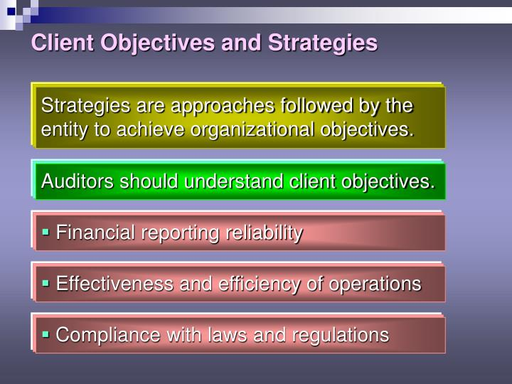 Client Objectives and Strategies