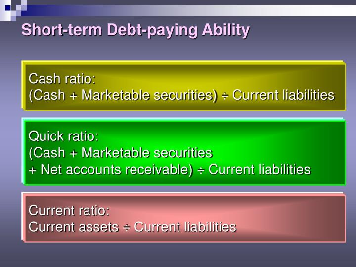 Short-term Debt-paying Ability