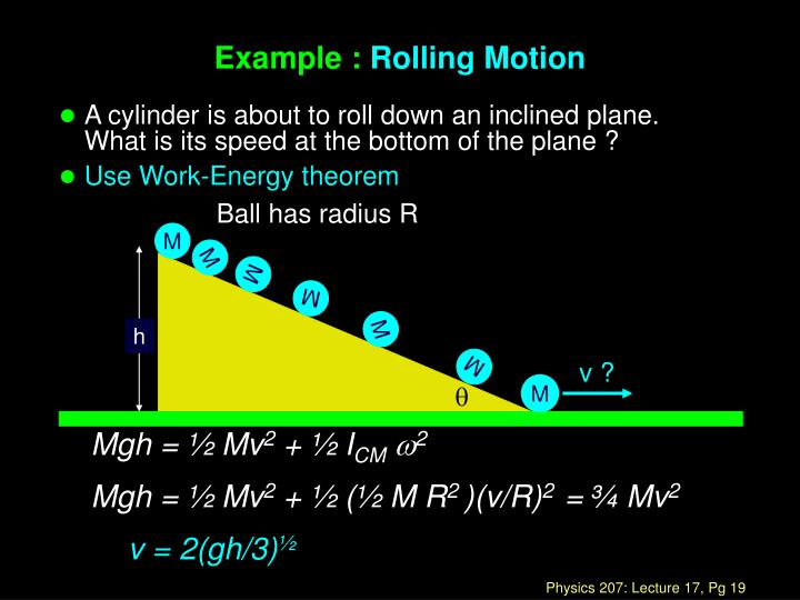 Ball has radius R