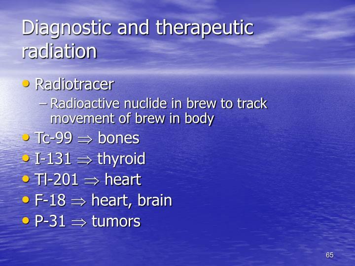 Diagnostic and therapeutic radiation