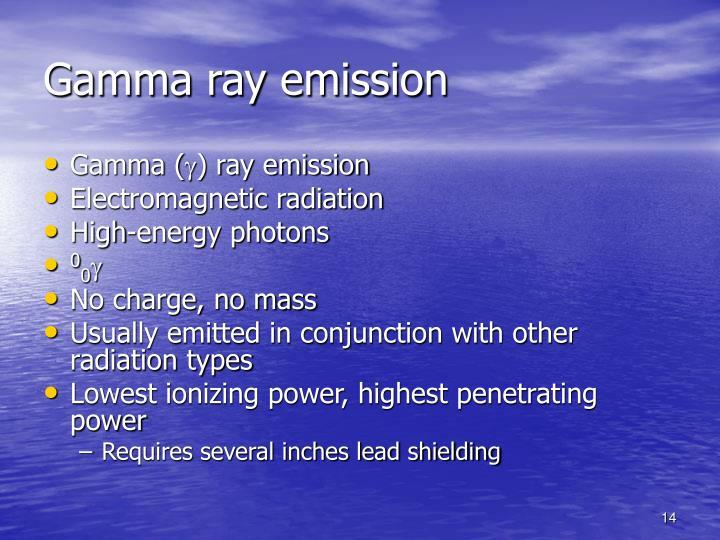 Gamma ray emission