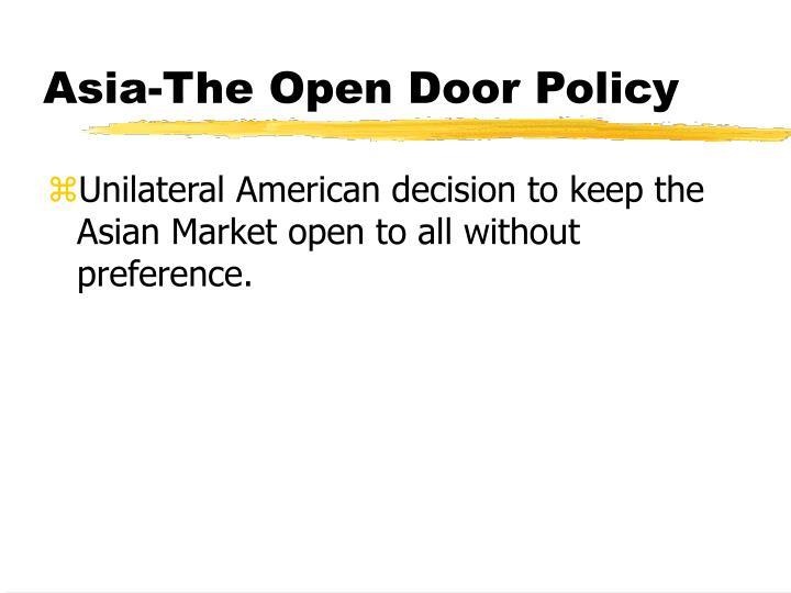Asia-The Open Door Policy
