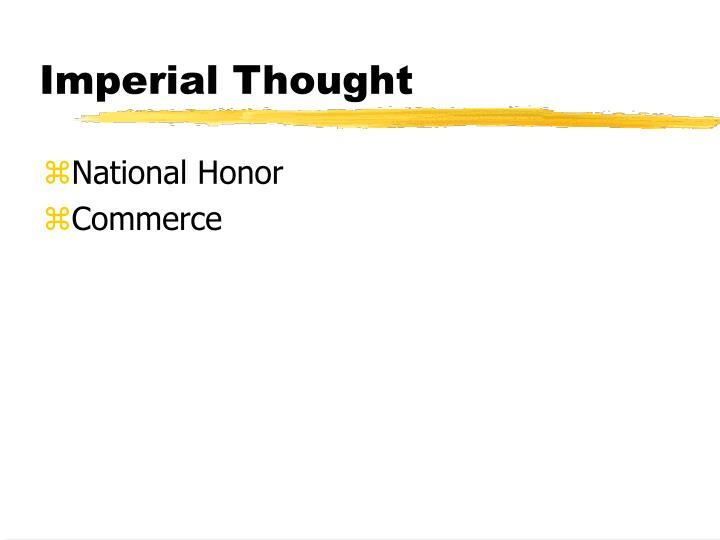 Imperial Thought