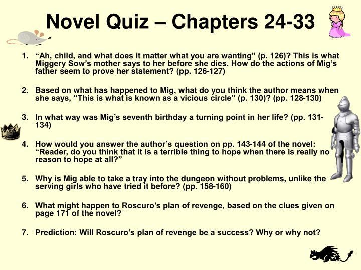Novel Quiz – Chapters 24-33