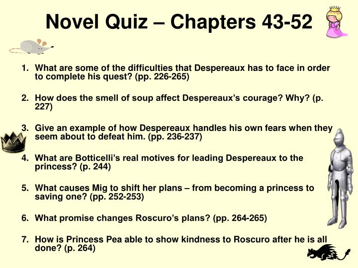 Novel Quiz – Chapters 43-52