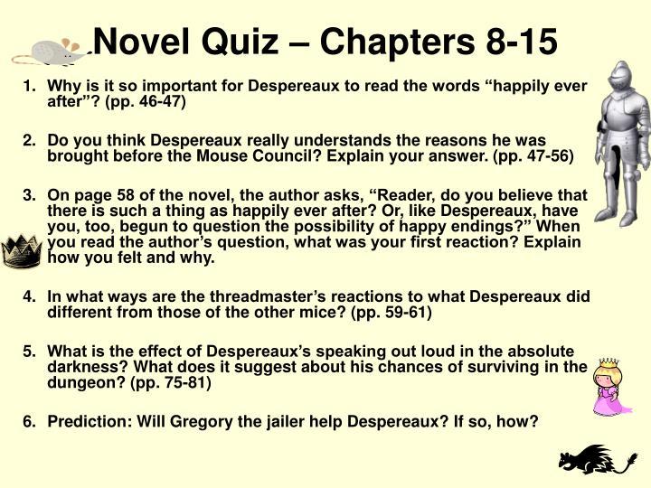 Novel Quiz – Chapters 8-15