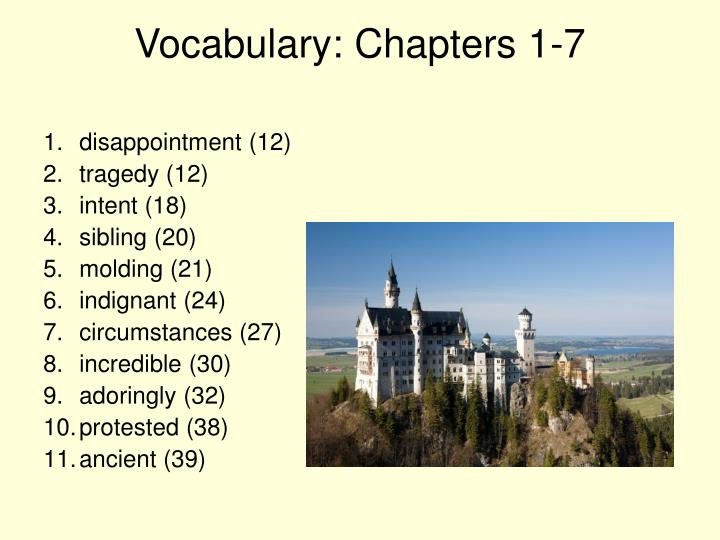 Vocabulary: Chapters 1-7