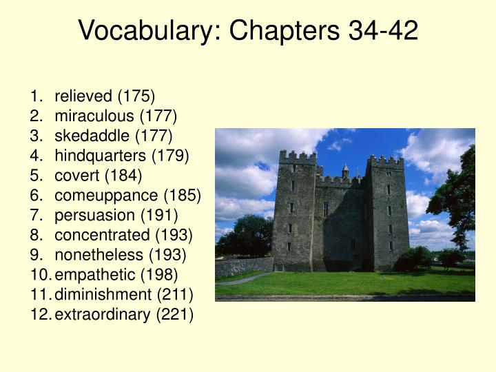 Vocabulary: Chapters 34-42