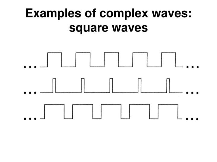 Examples of complex waves: