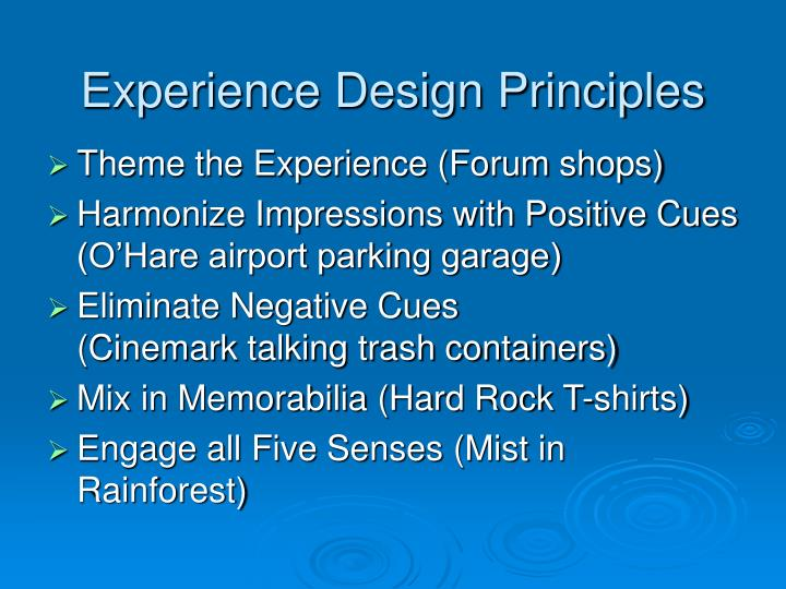 Experience Design Principles
