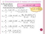 6 concentration in terms of conversion9