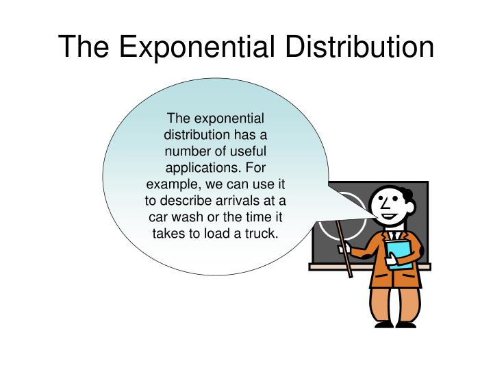 the exponential distribution n.
