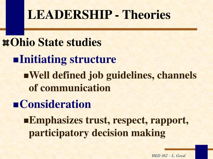 LEADERSHIP - Theories