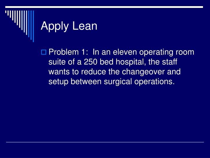 Apply Lean