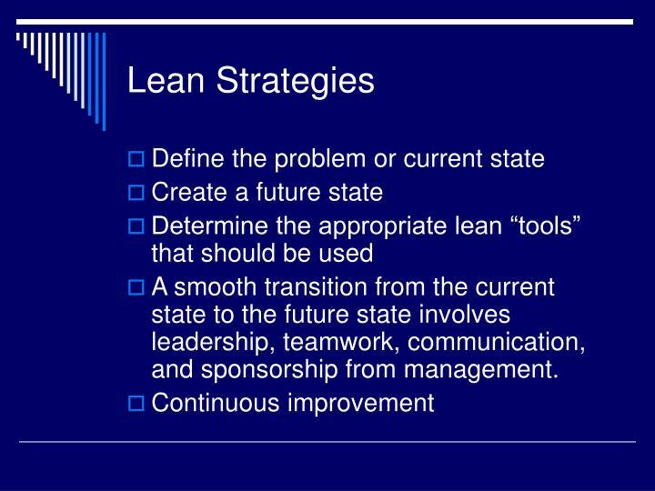 Lean Strategies