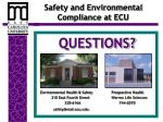 safety and environmental compliance at ecu1
