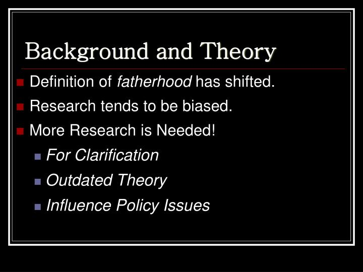 Background and theory
