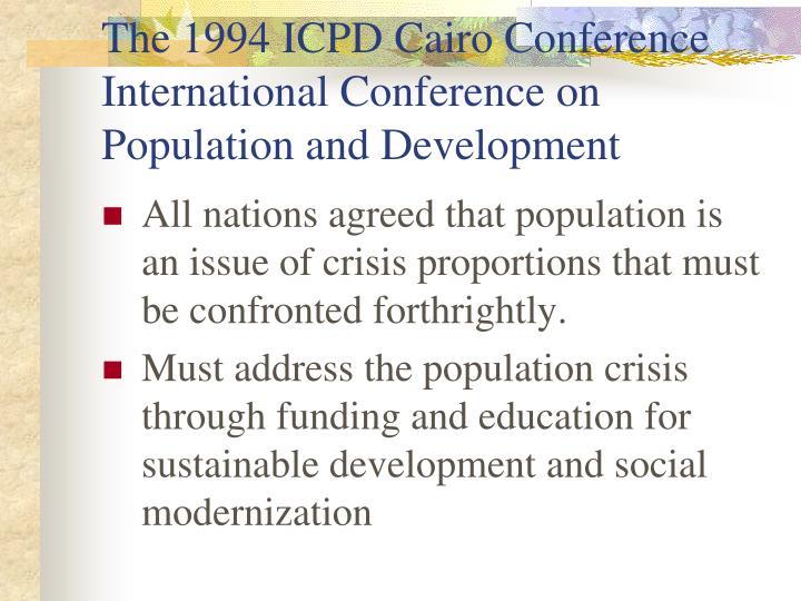 addressing the population crisis