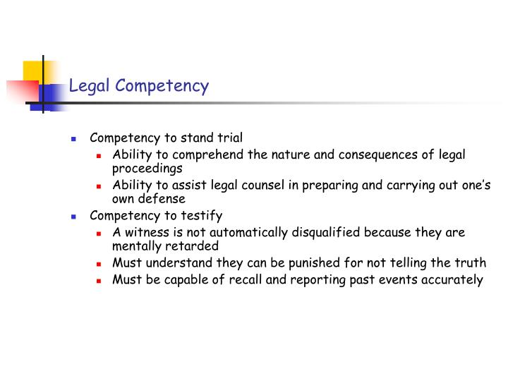 Legal Competency