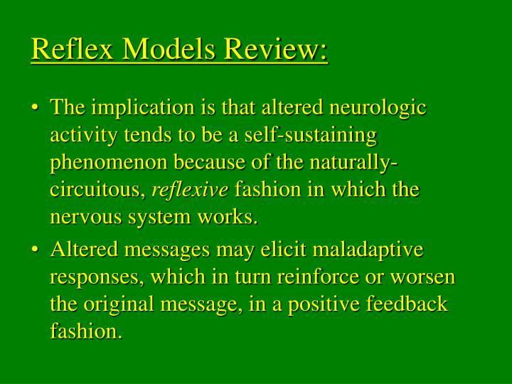 Reflex Models Review:
