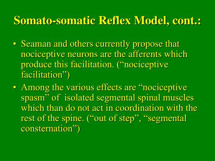 Somato-somatic Reflex Model, cont.: