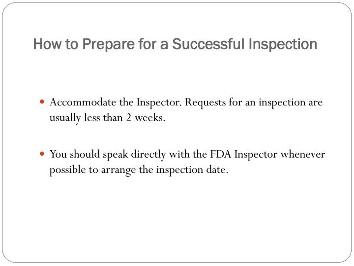 How to Prepare for a Successful Inspection