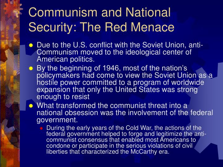 Communism and National Security: The Red Menace