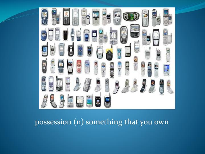 possession (n) something that you own