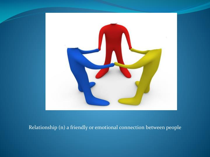 Relationship (n) a friendly or emotional connection between people