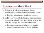 expectancies about shock